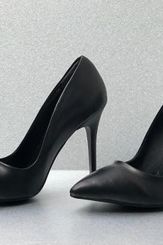 حذاء ذو كعب - لون أسود