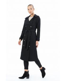 معطف واقي مطري ذو تصميم مميز