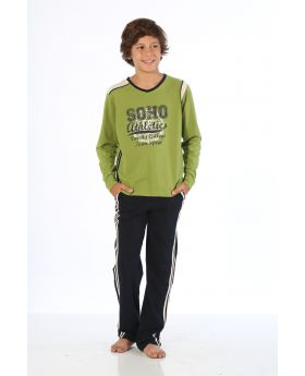 بدلة رياضة للاولاد - لون اخضر  HMD YUPPİ