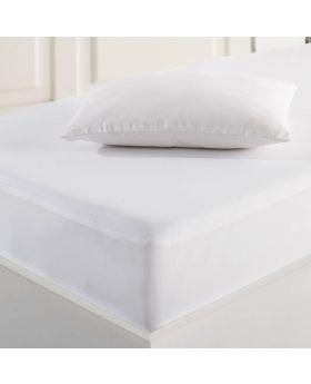 غطاء فراش واقي قطني أبيض للمولود يمنع التسرّب  70×140 ماري كلير كلاثيا MARIE CLAIRE CALATHEA