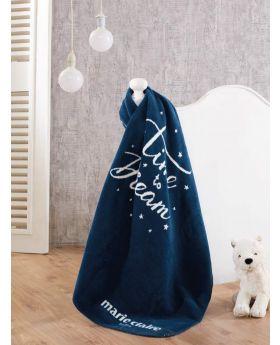بطانية طفل قطن 60% - 33% أكرليك - 7% بوليستر كحليّة اللون 100×120سم ماري كلير دريم MARIE CLAIRE DREAM