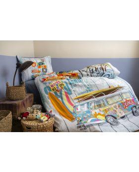 """طقم غطاء سرير مصنوع من الرانفورس مفرد """" شخص واحد """" PEACE"""