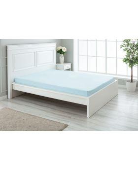 """مفرش سرير ذو محيط مطاطي مزدوج """" شخصين """" 160x200+30  سم لون أزرق تركواز"""