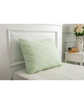 غطاء وسادة مبطن بالرانفورس لون أخضر 50x70 سم