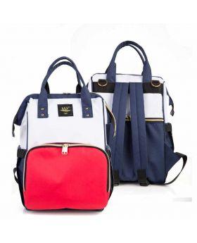 حقيبة  ظهر بيبي  للأم باللون الكحلي والأحمرMY Collection