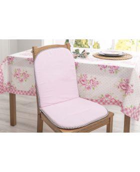 وسادة كرسي مع مسند للظهر بتصميم انيق لون وردي 80x40 سم