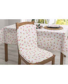 وسادة كرسي مع مسند للظهر بتصميم انيق لون سومون 80x40 سم