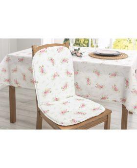 وسادة كرسي مع مسند للظهر بتصميم انيق لون اخضر 80x40 سم