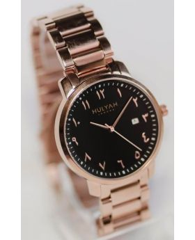 ساعة يد تناسب الذكور والاناث أصلية مرقمة بالأرقام العثمانية / العربية Hulyah London
