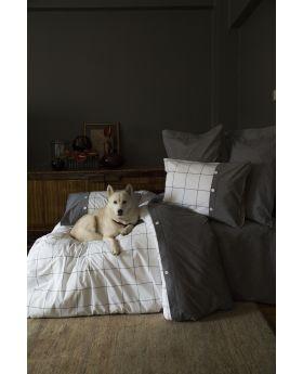 """طقم غطاء سرير مزدوج """" شخصين """" مصنوع من خيوط قطنية مصبوغة SOREN"""