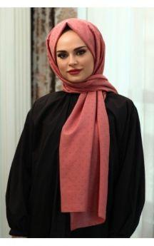 شال ذو دوائر صغيرة لون الورد