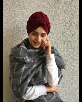 بونيه حجاب الرأس - لون خمري