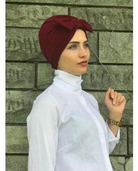بونيه حجاب رأس - لون خمري