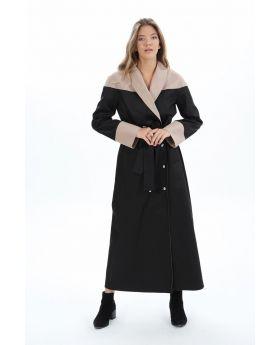 معطف واقي مطري ذو تصميم أنيق