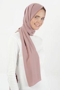 شال كريب لون الورد