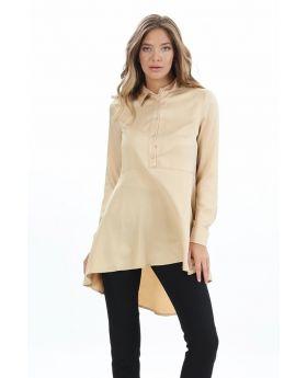 قميص لون بيج مزركش