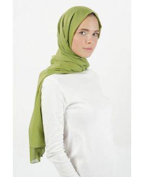 شال قطني لون خضار الفستق Pratic Shape