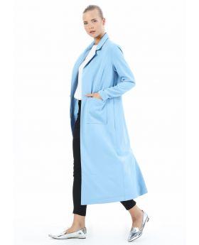 جاكيت ذو جيوب جانبية لون أزرق