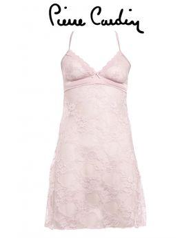 طقم ليلي لانجري دانتيل مع سروال داخلي - اللون الوردي Pierre Cardin