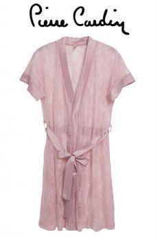 لانجري صبحلك من الدانتيل -اللون الوردي Pierre Cardin