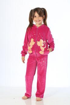 بدلة رياضة للاطفال بناتي - لون فوشي HMD YUPPİ