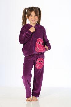 بدلة رياضة للاطفال بناتي - لون بنفسجي HMD YUPPİ
