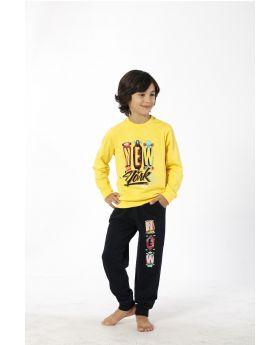 بدلة رياضة للاطفال ولادي - لون اصفر  HMD YUPPİ