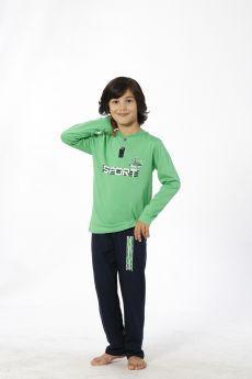 بدلة رياضة للاطفال ولادي - لون اخضر HMD YUPPİ