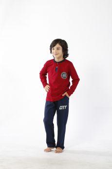 بدلة رياضة للاطفال ولادي - لون خمري HMD YUPPİ