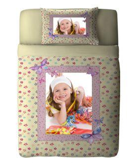 طقم غطاء سرير بطبعة أطفال Butterfly ماركة TAC
