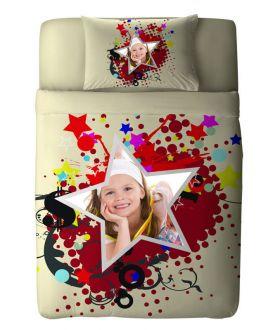 طقم غطاء سرير بطبعة أطفال Star ماركة TAC