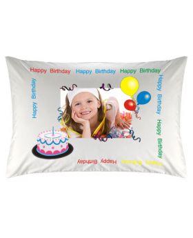 غطاء وسادة  بطبعة عيد الميلاد Happy Birthday ماركة TAC