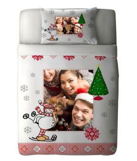 طقم غطاء سرير ذو طبعة احتفال رأس السنة New Year Frame  ماركة Tac