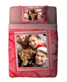 طقم غطاء سرير ذو طبعة احتفال رأس السنة Snowman ماركة Tac