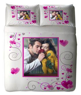 طقم غطاء سرير ذو طبعة رومانسية مميزة Crazy  Heart ماركة TAC