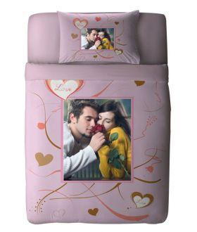 طقم غطاء سرير ذو طبعة رومانسية مميزة Red Crazy ماركة TAC