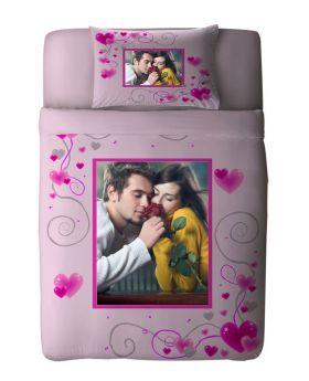طقم غطاء سرير ذو طبعة رومانسية مميزة Red Heart ماركة TAC