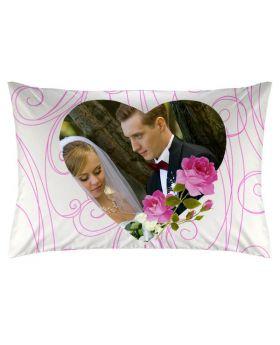 غطاء وسادة ذات طبعة عروسين بمناسبة ذكرى الزواج Romantic Rose ماركة TAC