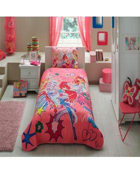 غطاء سرير قياس مفرد بطبعة فتيات عالم وينكس ماركة TAC