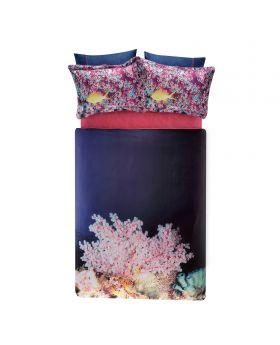طقم بياضات سرير مزدوج Blush-لون وردي Tac