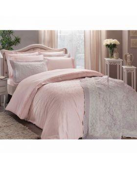 طقم بياضات سرير و غطاء سرير Sunshine -لون وردي Tac