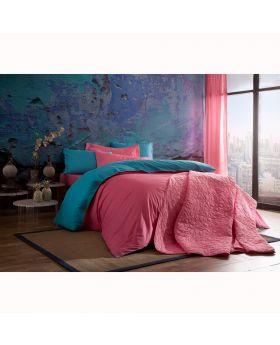 مجموعة أغطية سرير Picasa -لون وردي وأزرق Tac