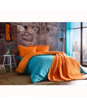 مجموعة أغطية سرير Picasa -لون برتقالي وأزرق Tac