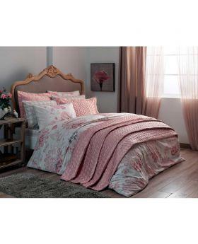 طقم بياضات سرير و غطاء سرير مزدوج Bella-لون وردي Tac