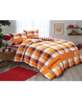 طقم بياضات سرير مزدوج Galatasaray مربعات Tac