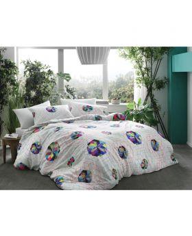 طقم بياضات سرير مزدوج Rainbow-لون أزرق Tac