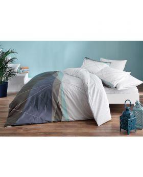 طقم بياضات سرير مزدوج Power-لون أبيض Tac