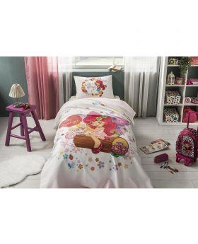 طقم غطاء سرير بطبعة ستروبري شورت كيك ماركة TAC
