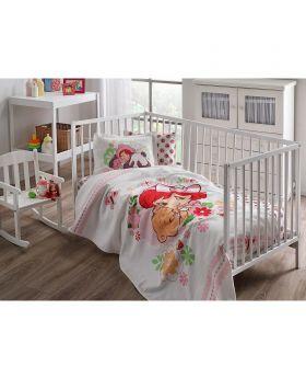 طقم مفارش سرير حواجز للأطفال بطبعة ستروبيري شورت كيك Tac