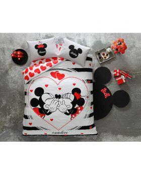 "طقم غطاء سرير قياس مزدوج "" شخصين "" TAC Disney Minnie&Mickey Amour"